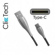 Cabo Micro Usb Click Tech Premium Metal 1.2m Tipo C