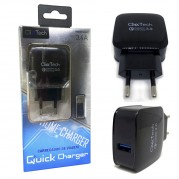 Carregador Turbo Quick Charge 3.0 Click Tech Usb 18w