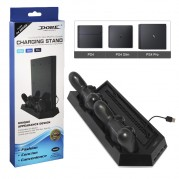 Base Suporte Vertical Ps4 Slim Pro Cooler Hub Usb Carregador