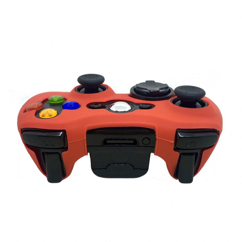 86ca584fe5903 Capa Case De Silicone Protetora Controle Xbox 360 Colorida